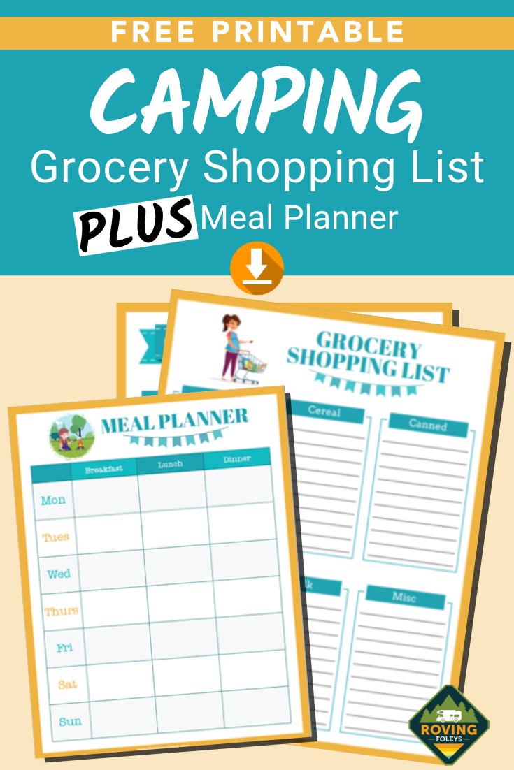 Camping Grocery List Template Plus Menu Planner Free Printables For Camping Menu Planner Template