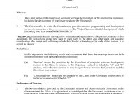 Canada Consulting Agreement For Software Development  Legal Forms throughout Client Service Agreement Template