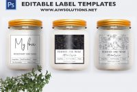 Candle Label Template Id  Aiwsolutions with Chutney Label Templates