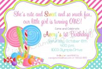 Candyland Invitations Printable  Candyland Lollipop Invitations with Blank Candyland Template