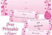 Can't Find Substitution For Tag Postbody Printable Sweet for Love Certificate Templates