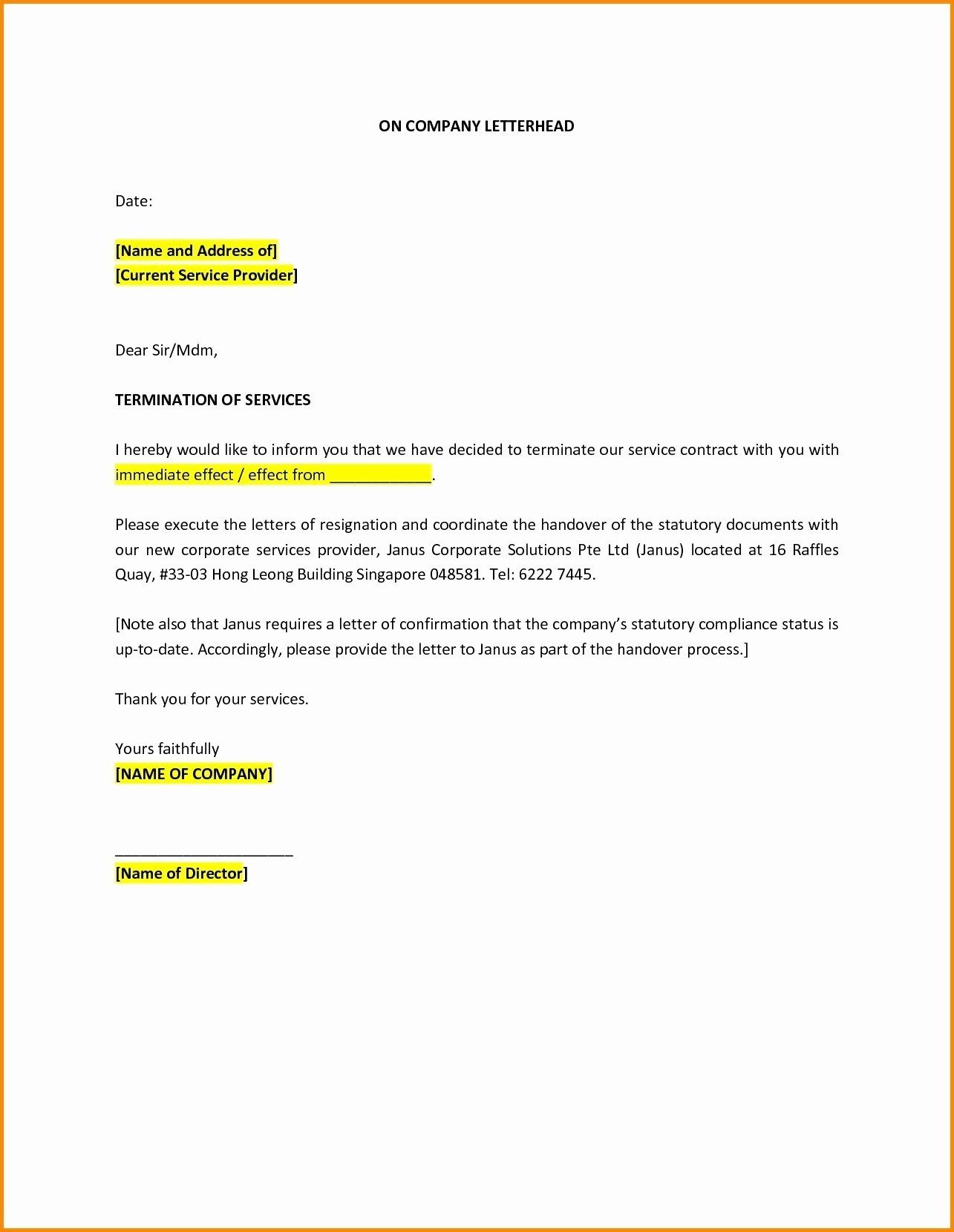 Car Insurance Cancellation Letter Template Examples  Letter Cover With Booking Cancellation Policy Template