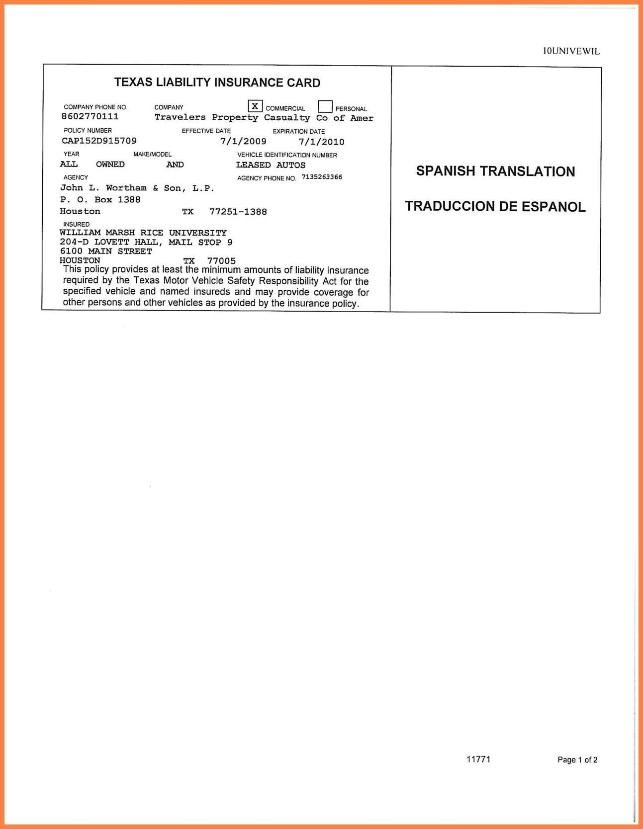 Car Insurance Card Template Free Auto Insurance Card Template Free Inside Car Insurance Card Template Free