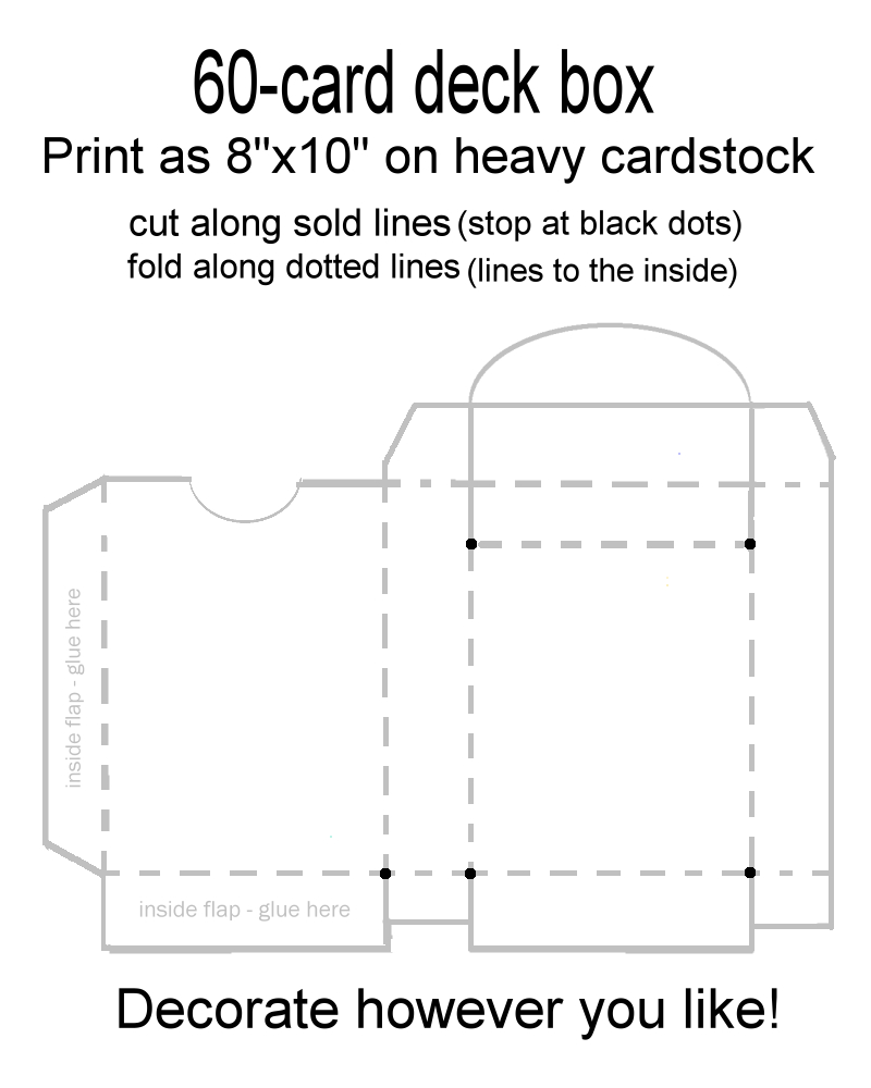Card Deck Box Template For Magic Pokemon Yugioh Etc You're Intended For Mtg Card Printing Template