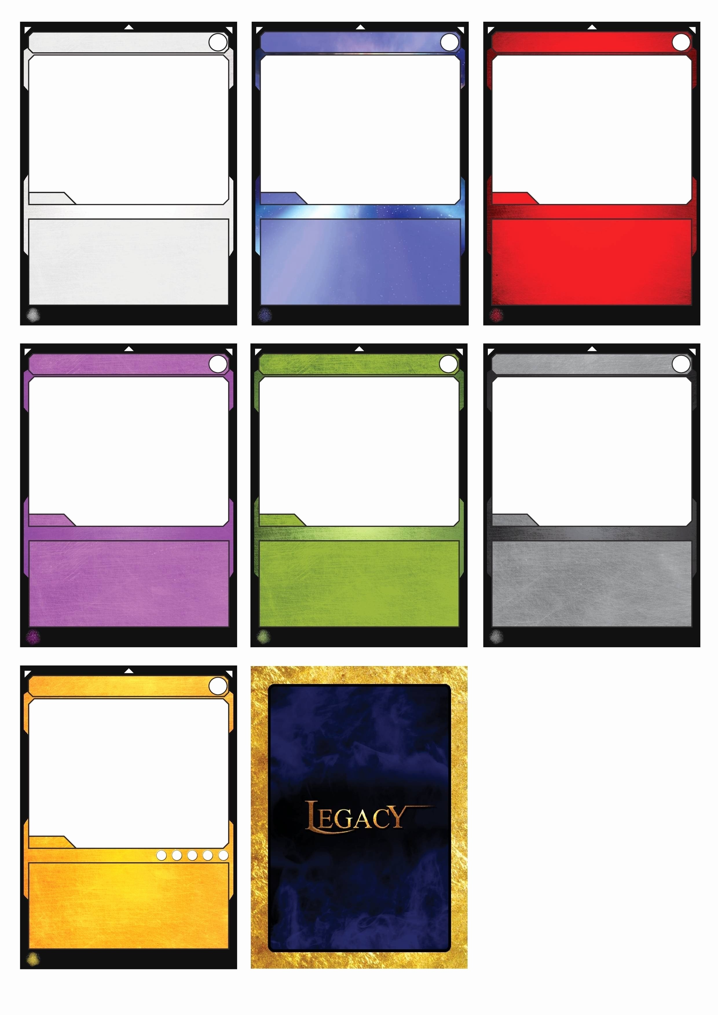 Card Game Template New  Elegant Trading Card Template Word  Iggms With Regard To Trading Card Template Word