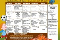 Care Menu Templates Free Professional U High Quality School Lunch Fn intended for Free School Lunch Menu Templates