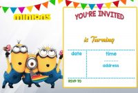 Cartoon Invitation Ppt Template  Printable Templates  Minion pertaining to Minion Card Template