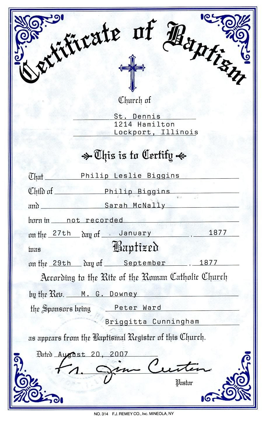 Catholic Baptism Certificate  Yahoo Image Search Results  Free Intended For Christian Baptism Certificate Template