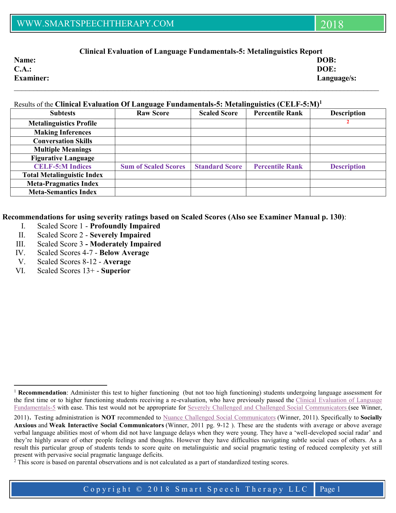Celf  Report Template With Regard To Speech And Language Report Template
