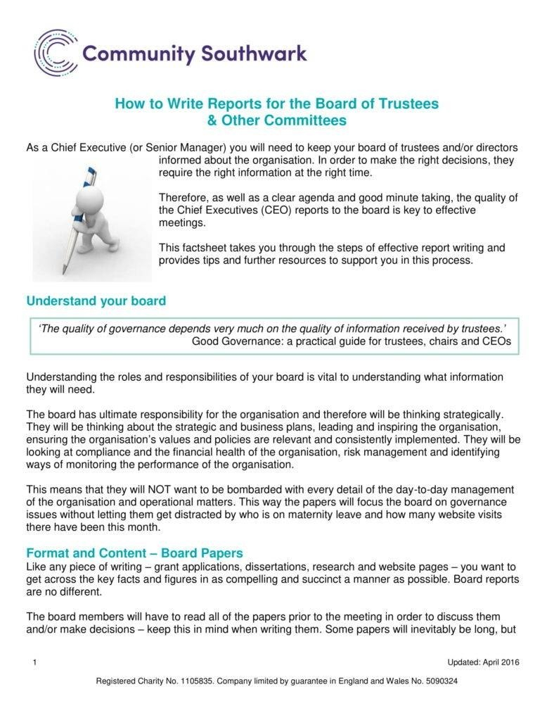 Ceo Report Templates  Pdf  Free  Premium Templates Intended For Good Report Templates