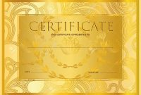 Certificate Diploma Golden Design Template Colorful Background with regard to Certificate Scroll Template