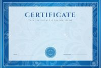 Certificate Diploma Of Completion Design Template Background throughout Scroll Certificate Templates