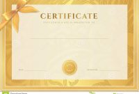 Certificate Diploma Template Gold Award Pattern Stock Vector pertaining to Certificate Scroll Template