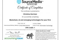 Certificate Examples  Simplecert within Continuing Education Certificate Template