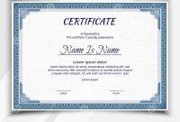 Certificate Landscape Template Stock Vector  Illustration Of Gift with Landscape Certificate Templates