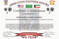 Certificate Of Achievement Army Template  Bizoptimizer within Certificate Of Achievement Army Template