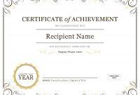 Certificate Of Achievement regarding Employee Anniversary Certificate Template