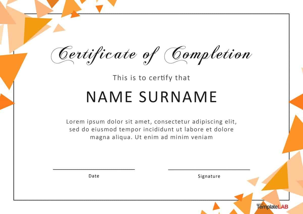 Certificate Of Achievement Word Template Certificateofcompletion For Word Template Certificate Of Achievement