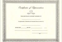 Certificate Of Appreciation Template  Dtemplates With Certificate Of Appreciation Template Free Printable