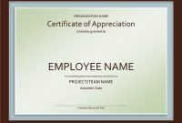Certificate Of Appreciation Template In Ppt for Employee Anniversary Certificate Template