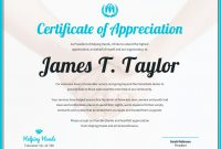 Certificate Of Appreciation Template  Venngage for Thanks Certificate Template