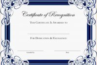 Certificate Of Appreciation Template Word  Authorizationletters in Certificate Of Excellence Template Word