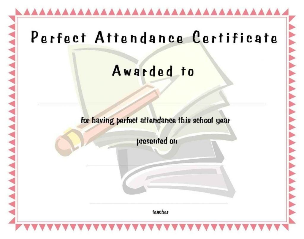 Certificate Of Attendance Free Template  Free Download  Dtemplates Throughout Perfect Attendance Certificate Free Template