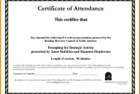 Certificate Of Attendance Templates  Weekly Template pertaining to Certificate Of Participation Template Pdf