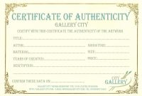 Certificate Of Authenticity Template For Fine Art regarding This Entitles The Bearer To Template Certificate