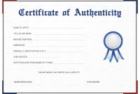 Certificate Of Authenticity Template  Sansurabionetassociats in Certificate Of Authenticity Template
