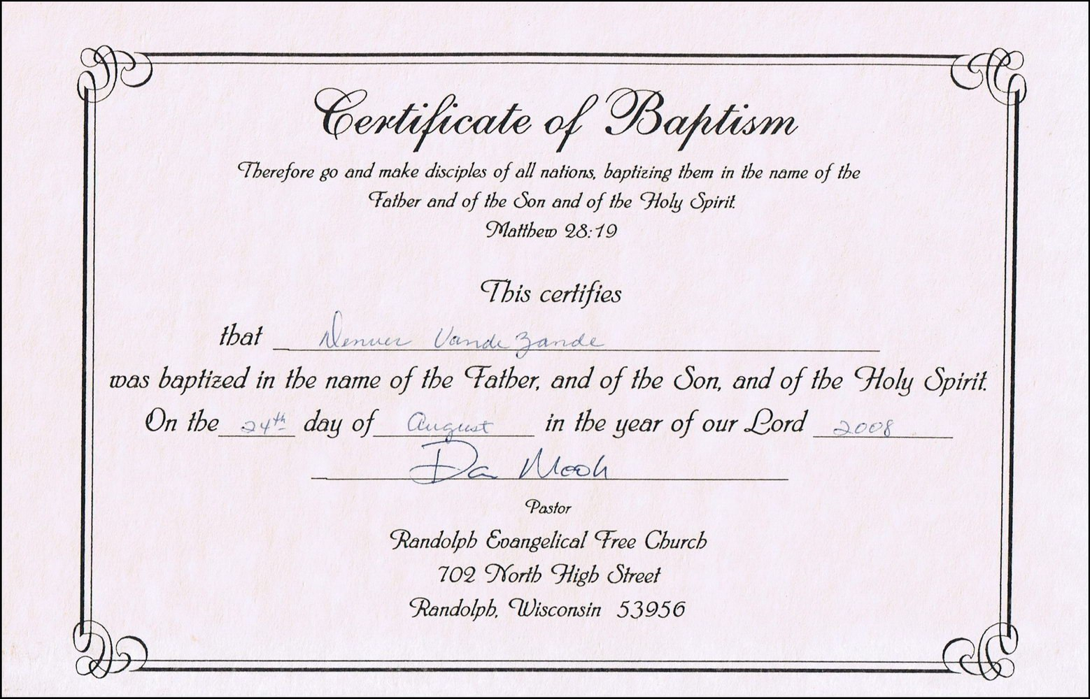 Certificate Of Baptism Template Free Awesome Ideas Broadman Word With Baptism Certificate Template Word