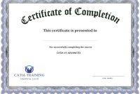 Certificate Of Completion Templates Free Download Images  Free regarding Downloadable Certificate Templates For Microsoft Word