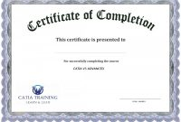 Certificate Of Completion Word Template Free Certificates Forte within Army Certificate Of Completion Template