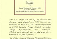 Certificate Of Disposal Template  Mandegar inside Certificate Of Disposal Template