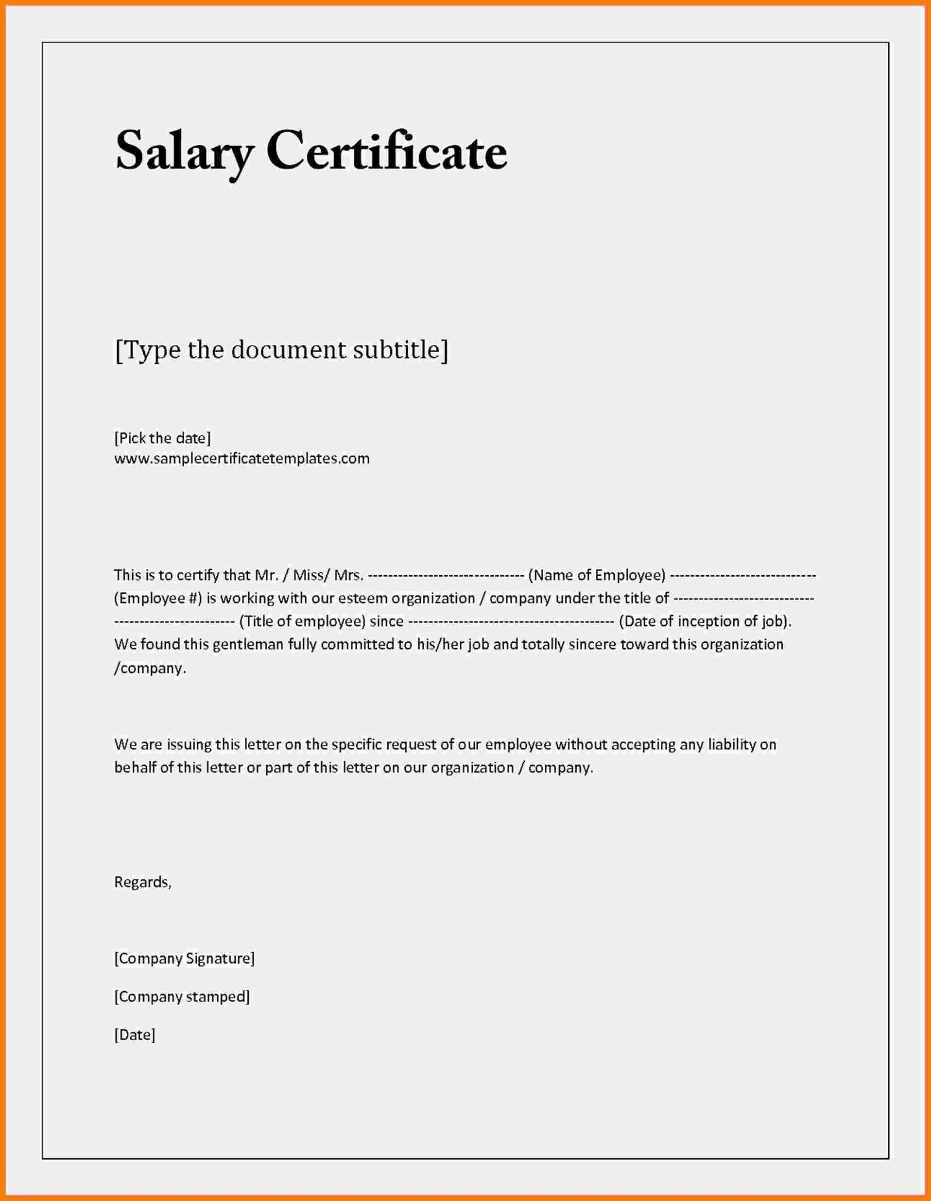 Certificate Of Employment Template Word  Certificatetemplateword In Employee Certificate Of Service Template
