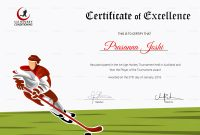 Certificate Of Hockey Performance Design Template In Psd Word within Hockey Certificate Templates