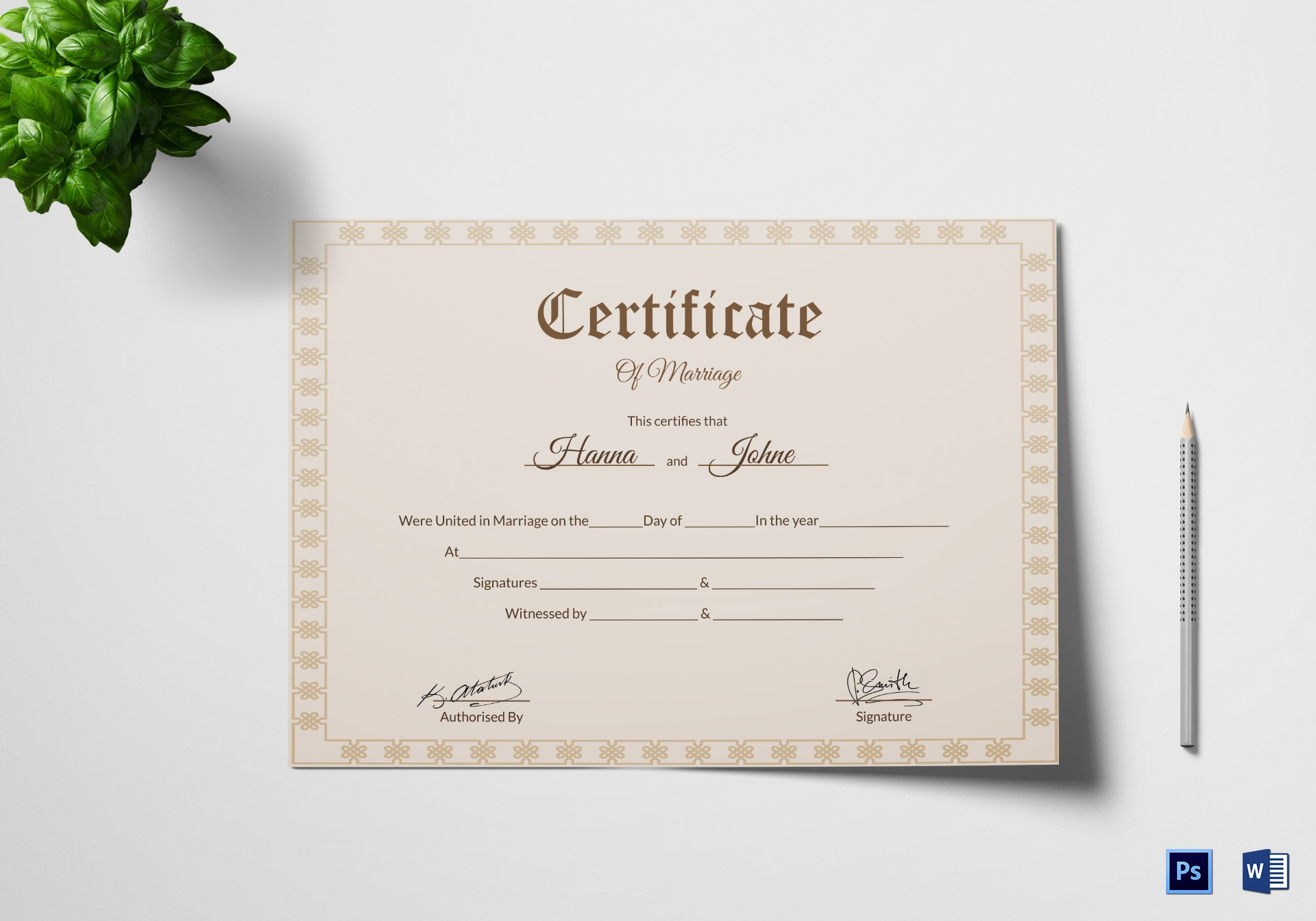 Certificate Of Marriage Template Excellent Ideas Example In The With Certificate Of Marriage Template