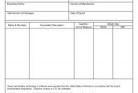 Certificate Of Origin Template Excel Word Surprising Ideas Nafta throughout Nafta Certificate Template