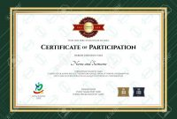 Certificate Of Participation Template In Sport Theme With Rugby within Certification Of Participation Free Template