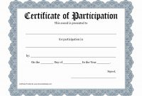 Certificate Of Participation Template Pdf – Pictimilitude with regard to Certificate Of Participation In Workshop Template