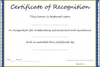 Certificate Of Recognition Sample Template  – Elsik Blue Cetane with Sample Certificate Of Recognition Template