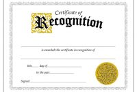 Certificate Of Recognition Template Word  Ndash Elsik Blue Cetane inside Printable Certificate Of Recognition Templates Free
