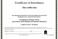 Certificate Of Recognition Template Word Templates In Format New regarding Perfect Attendance Certificate Free Template