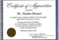 Certificate Of Recognition Wording Copy Certificate Recognition with regard to Recognition Of Service Certificate Template