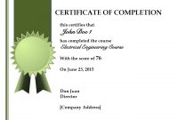 Certificate Of Training Completion  Toha with Free Training Completion Certificate Templates
