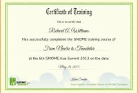 Certificate Of Training Templates  – Elsik Blue Cetane for Template For Training Certificate
