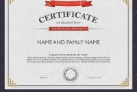 Certificate Template And Element Stock Vector  Illustration Of throughout Beautiful Certificate Templates