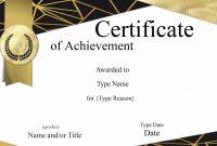 Certificate Template Design  – Elsik Blue Cetane regarding Design A Certificate Template