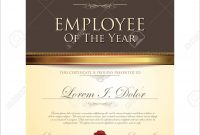 Certificate Template Employee Of The Year Royalty Free Cliparts pertaining to Employee Of The Year Certificate Template Free