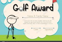 Certificate Template For Golf Award Illustration Stock Vector Art pertaining to Golf Certificate Template Free